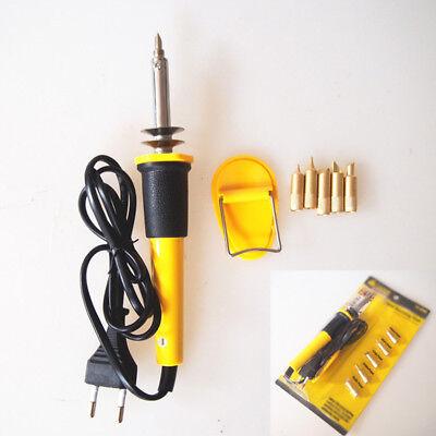 7x Profesional Soldering Iron Pen Kit Wood Burning Burner Tool Set W Tips 220v