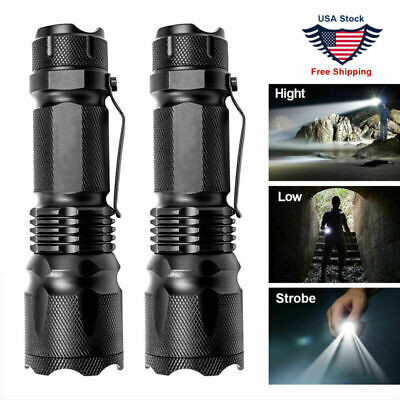 LED Tactical Flashlight Military Torch Small Super Bright Handheld Light