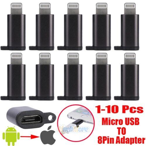 1-10x Micro USB to Lightning 8Pin Adapter Sync Quick Chargin