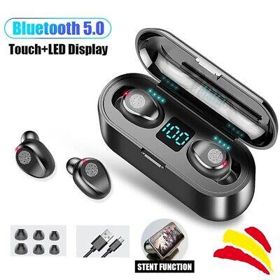 TWS Auriculares Estéreo Bluetooth 5.0 Inalámbricos Llamada HD Impermeable F9