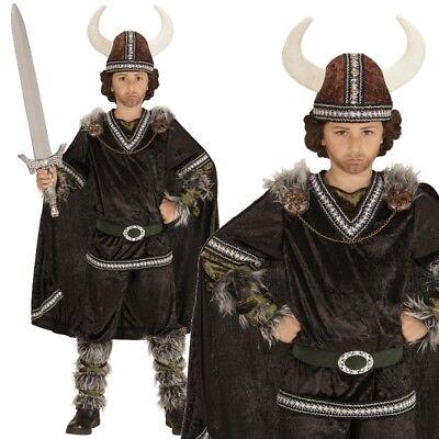 Wikinger Krieger Kinder Kostüm Gr. 128 - NEU Jungen Barbaren Mittelalter #5986