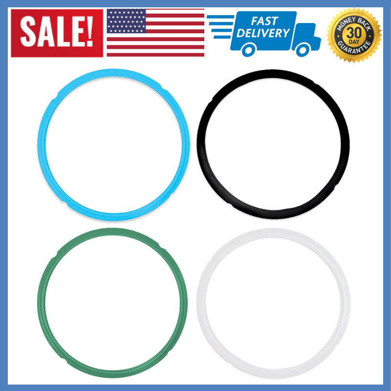 NEW 4 Pack Silicone Sealing Ring for Instant Pot 5 6 Qt Repl