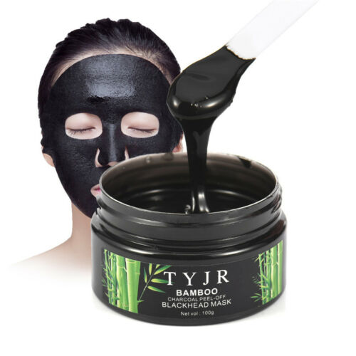 All Natural Charcoal Blackhead Mask Made With 2: TYJR Bamboo Charcoal Deep Remover Blackhead Cleansing Mud