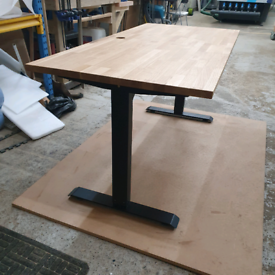 Electric Desk with solid oak desktop NEW locally produced