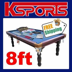 TRADITIONAL 8FT PUB SIZE POOL TABLE SNOOKER BILLIARD TABLE BLUE Somerton Hume Area Preview