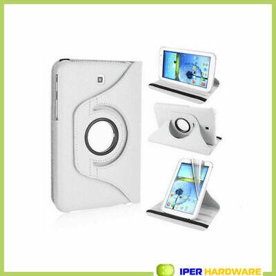 """Tedim Étui à rabat pour Samsung Galaxy Tab 3 7"""" orientable à 360° 8'' blanc"""