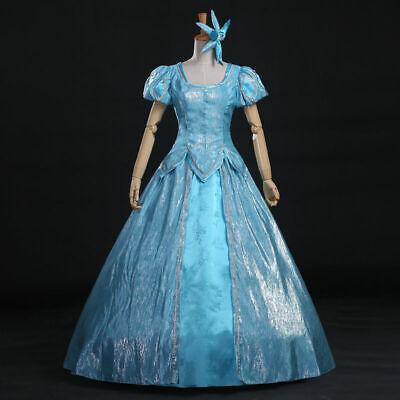 Newest Princess Ariel Little Mermaid Costume Blue Ball Gown Cosplay Dress - Ariel Blue Dress Cosplay