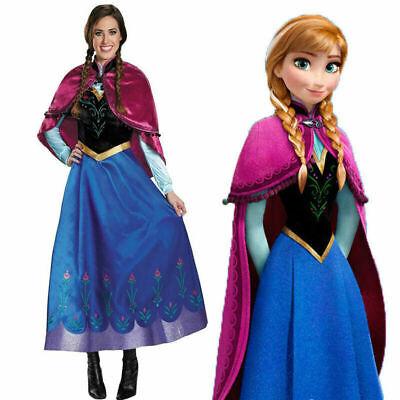 Buchwoche Anna Frozen Snow Queen Blue Erwachsene Dame - Anna Kostüm Erwachsene