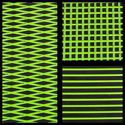 Hydro-Turf In Stock - Sheet Material - Black on L Green Cut Diamond - Ready2Ship