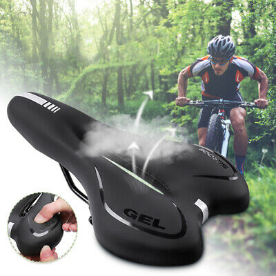 Wide Big Bicycle Saddle Seat Big Bum Soft Extra Comfort Pad Cushion Sprung I5Q1