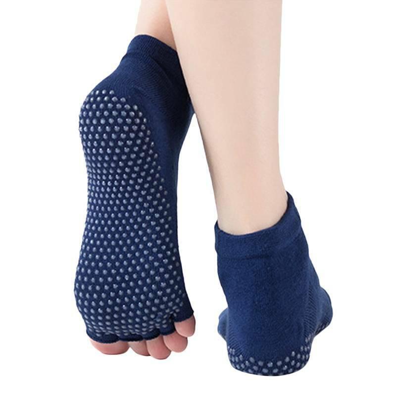 Women Yoga Socks Pilates Barre Ballet Non Slip Open Five Toe Grip Sports Socks Clothing, Shoes & Accessories