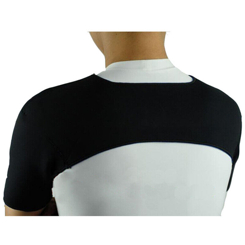 Double Shoulder Neoprene Support Brace Arthritis Braces Black Strap For Unisex Health & Beauty