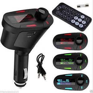 TRANSMETTEUR FM AUTO IPOD MP3 CELL USB CAR FM TRANSMITTER MUSIC PLAYER WORKS WITH MP4, CELL PHONE,AUXILIARY FOR SD CARDS