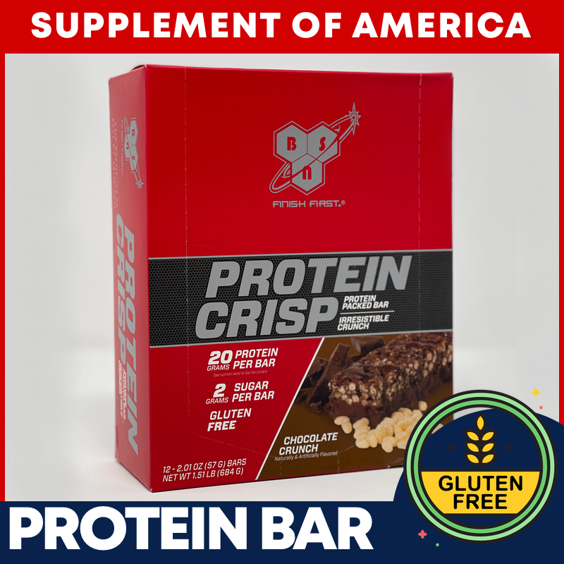 """BSN Best Selling Protein CRISPS 12-BARS """"FREE SHIPPING"""""""