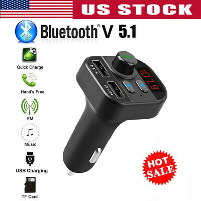 Bluetooth In-Car Wireless FM Transmitter MP3 Radio Adapter C
