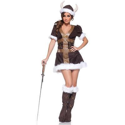Ladies VIKING PRINCESS Costume Dress Hat Boot Cover Adult Medium 6 8 10 Valkyrie