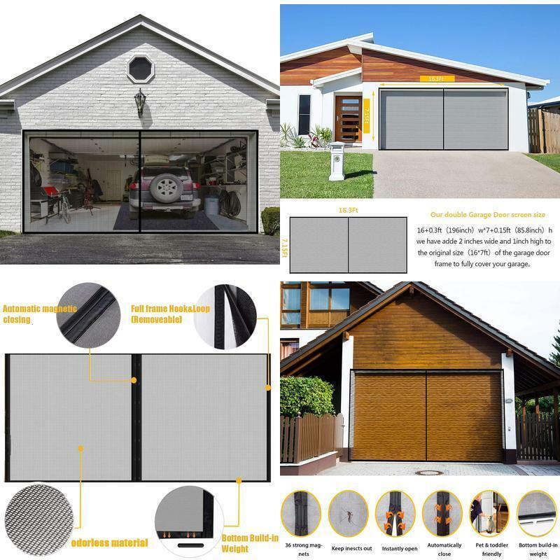 Garage Screen Door for 2 Car 16x7FT Garage Doors,Heavy Duty