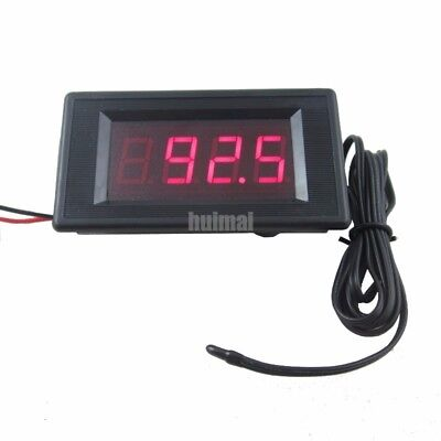 12v Red Digital Fahrenheit Degree Thermometer High Low Alarm -76257 Temperature