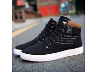Mens Fashion Canvas High Top Ankle Boots Trainers Pumps Shoes Sports sneakers
