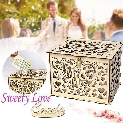 Card Holders For Wedding (DIY Wedding Card Box Rustic Wood Card Box Gift Card Holder for Wedding)