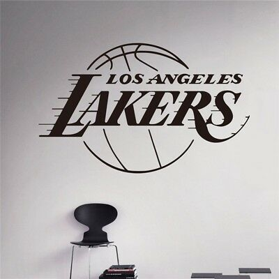 New Home Decoration Lakers NBA Basketball Team Wall Sticker Kids Room Wallpaper
