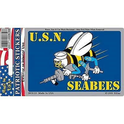 U.S.N. SEABEES STICKER - BRAND NEW - MUST SEE