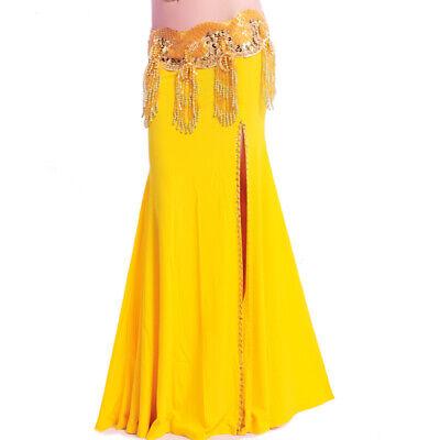 auchtanz Kostüm Rock mit Schlitze Tribal Fusion Skirt in Gelb (Wunderschöne Kostüme)