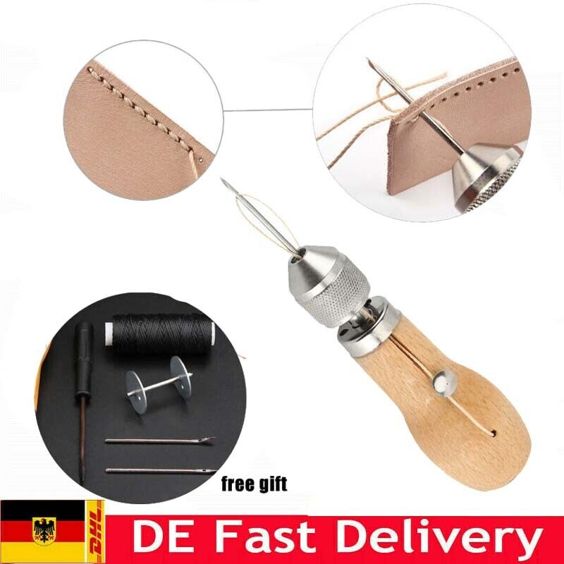 Stiching Sewing Awl Needle Tool Kit Speedy Stitcher for Leather Sail