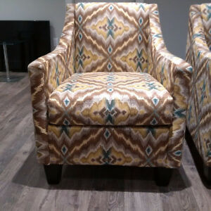 2 Brentwood Classic Millie Style Chairs Tagori-Saddle Fabric