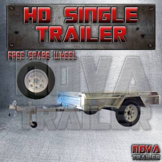 7X5 ✾GALVANISED 600mm Single AXLE BRANDNEW NOCAGE ✾ trailer