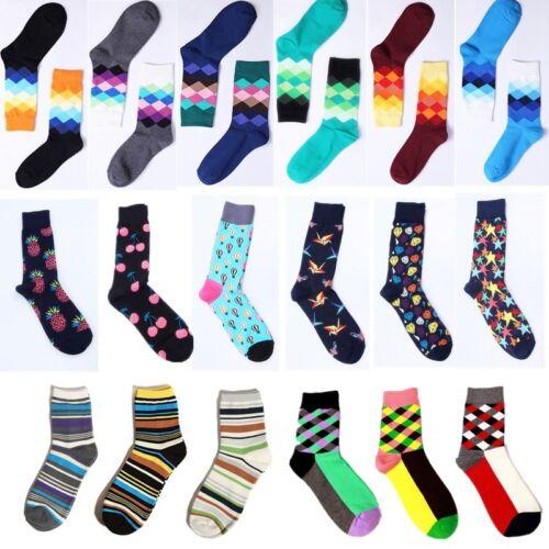 Hot Casual Cotton Socks Design Multi-Color Fashion Dress Men