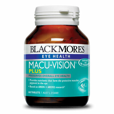 BLACKMORES MACU-VISION PLUS MACULAR EYE HEALTH 60 TABS RETINA LUTEIN MACUVISION ()