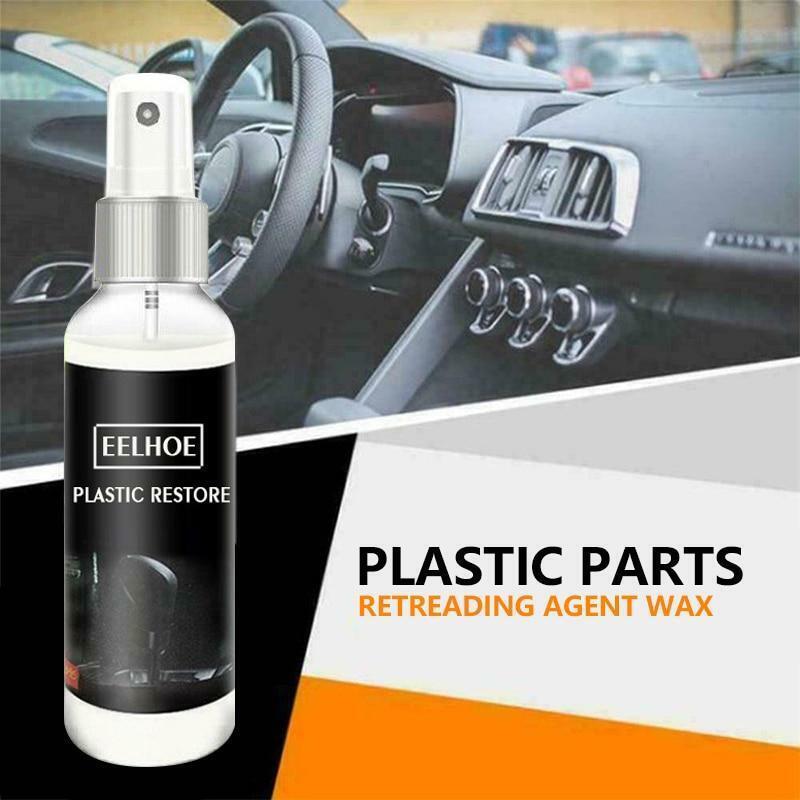 30ML Car Plastic Part Restorative agent Interior Wax Retreading Renewed Plastic
