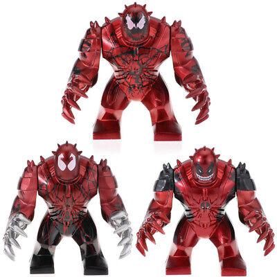 Carnage Venom Deadpool Toxin - Marvel Big Figure For Custom Lego [Metallic Red]