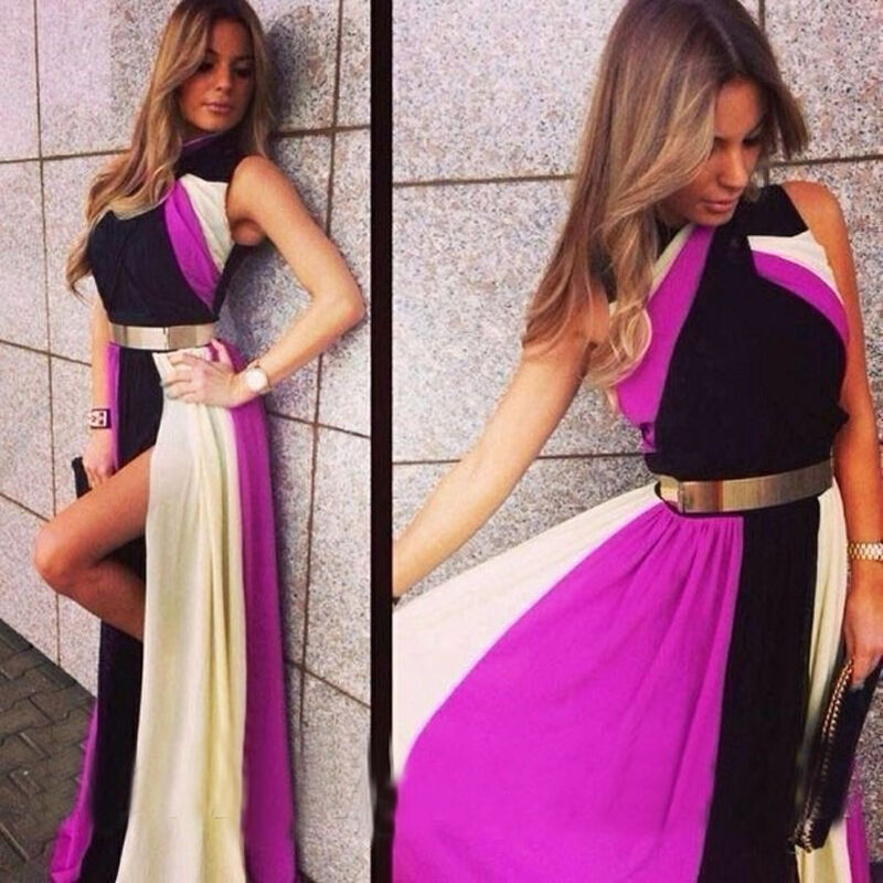 Sexy Lady Long Dress Chiffon Evening Formal Party Dress Bridesmaid Prom Gown