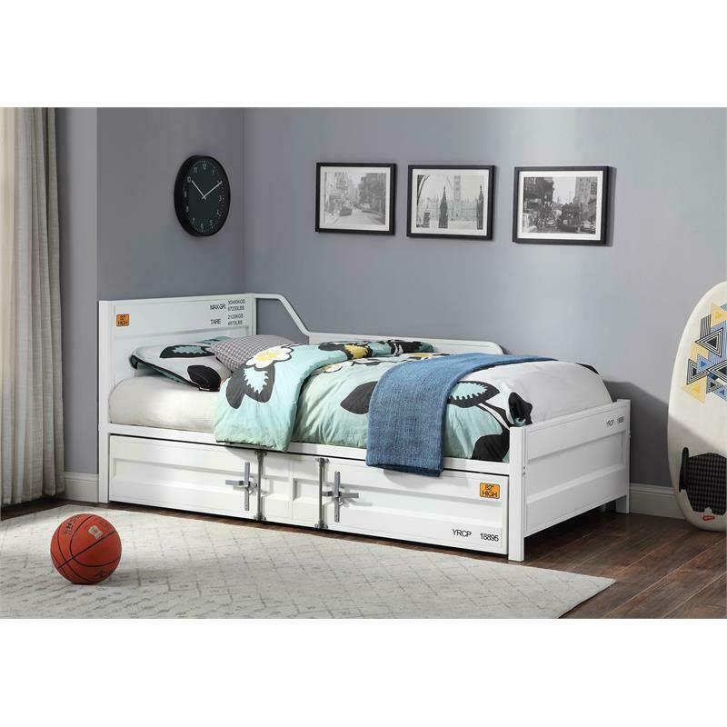 Bowery Hill Modern Twin Daybed and Trundle in White