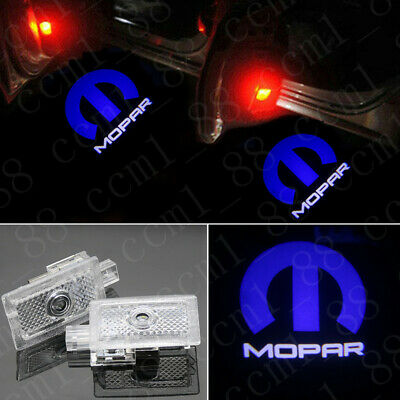 2X MOPAR LED DOOR PROJECTOR GHOST SHADOW PUDDLE LOGO LIGHTS HD For Dodge Charger