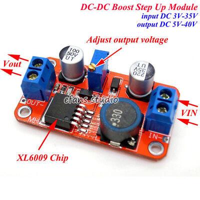 5a Xl6009 Dc-dc Boost Step Up Volt Converter 3v35v To 5v40v 6v 9v 12v 24v 36v