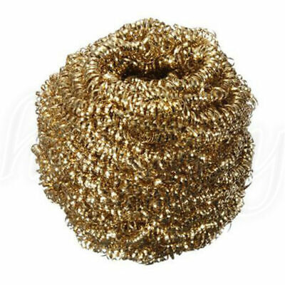 1pc Soldering Solder Iron Tip Cleaner Brass Cleaning Wire Sponge Ball Gold
