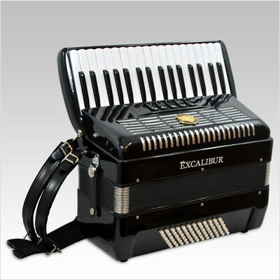 Excalibur Ultralight 72 Bass Weltbestin Piano Accordion Black Polish