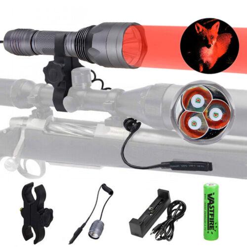 VASTFIRE Red Light 300 Yards Spotlight Flood Light Tactical