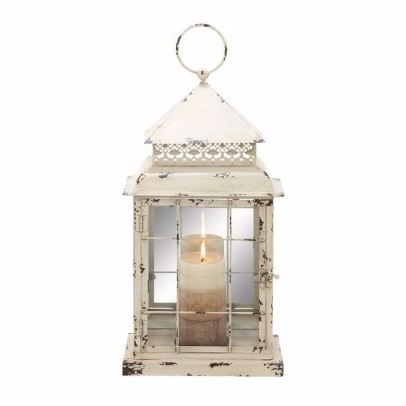 metal glass lantern 10 by 22 inch