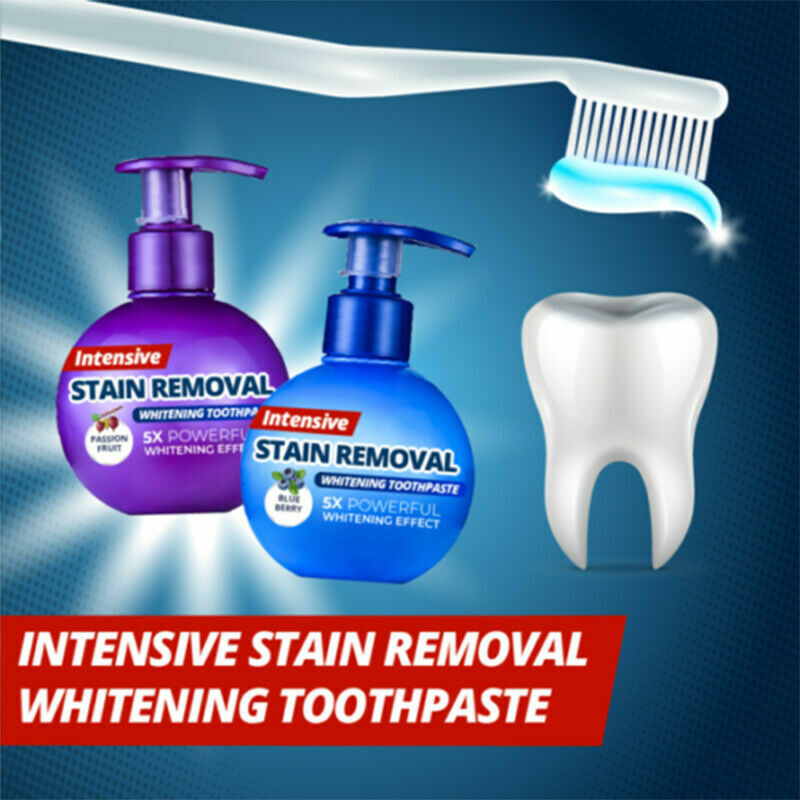 Natural Intensive Stain Remover Whitening Toothpaste US STOCK