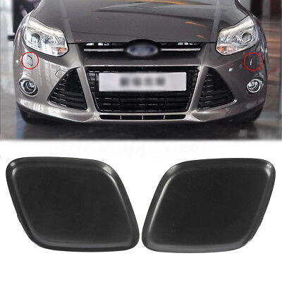 Bumper Headlamp Headlight Washer Jet Cover Cover Cap For Ford Focus 2012 2014