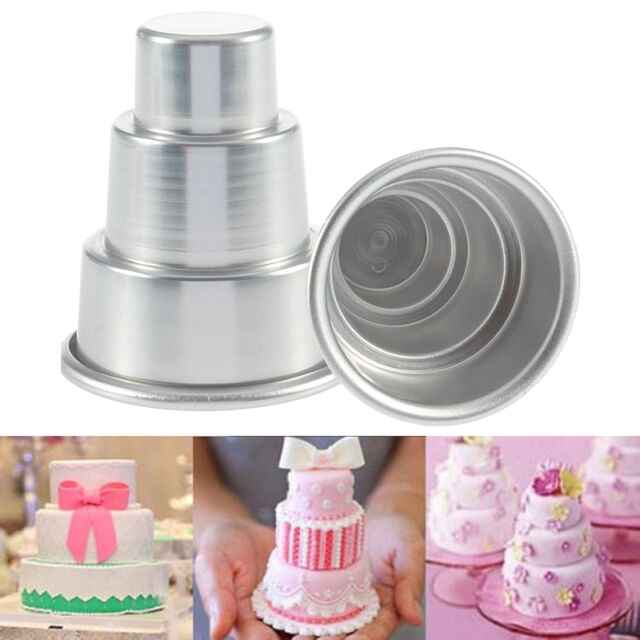 DIY Mini 3-Tier Cupcake Pudding Chocolate Cake Mold Baking Pan Mould Party DIY