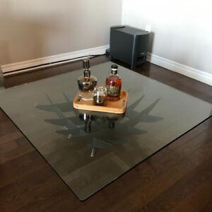 Table à café, en verre - Glass coffee table