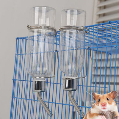 350ml Pet Rat Water Drinking Bottle Hamster Rabbit Dispenser Cylindrical Feeder, used for sale  Shipping to United States