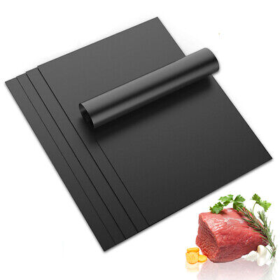 BBQ Grill Non-Stick Mat Reusable Sheet Resistant Cook Baking Barbecue Oven Liner