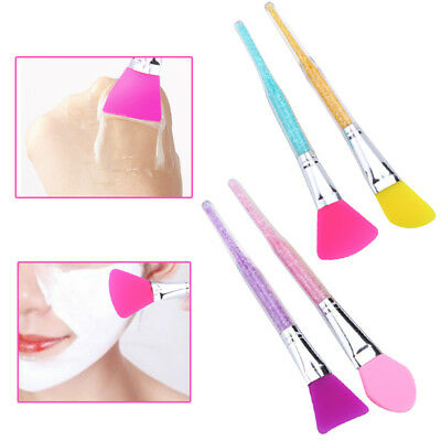 (Silicone Mud Mixing Facial Mask Brush Face Care Applicator Cosmetic Makeup Tools)