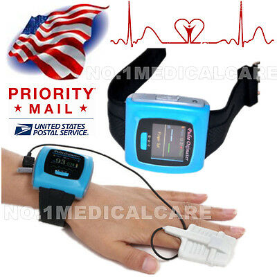 Contec Cms50f Wrist Pulse Oximeter Daily Overnight 24h Record Oled Pc Sw Fda